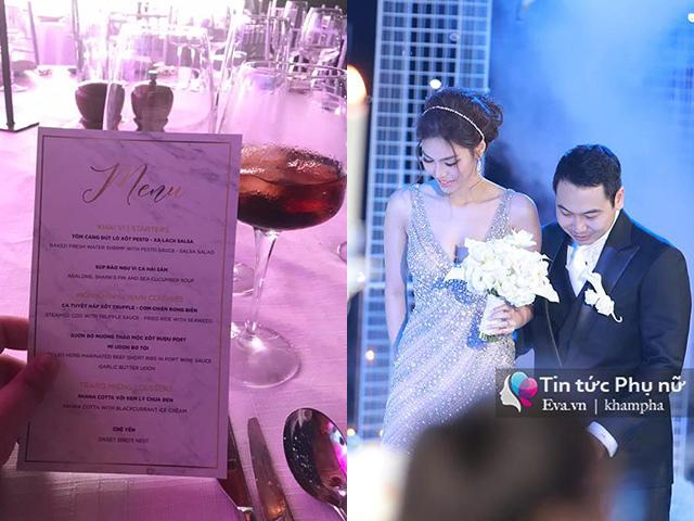 Lộ thực đơn tiệc cưới Lan Khuê, cùng tổ chức một nơi mà hơn hẳn Trấn Thành, Trường Giang