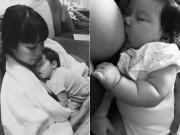 Siêu mẫu Hà Anh lần đầu kể chuyện cho con bú tới phỏng rát, nứt cả đầu ngực