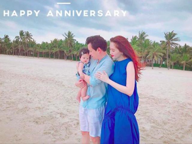 Đặng Thu Thảo nghĩ lại muốn tụt huyết áp trong dịp kỷ niệm 1 năm ngày cưới với ông xã