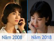 Làm đẹp - 10 năm 1 kiểu tóc, Song Hye Kyo khiến khán giả bấn loạn không biết đâu là ảnh trước–sau