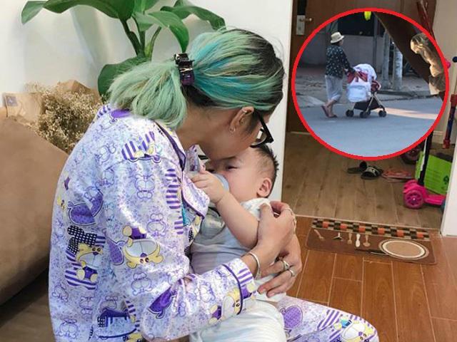 Hotgirl Bella ôm con trai đang ốm bỏ đi khỏi nhà Hằng Túi trong đêm khiến nhiều người lo lắng