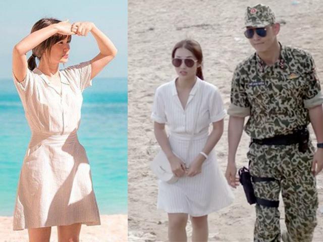 Trang điểm có thể thất bại nhưng Khả Ngân sao chép trang phục Song Hye Kyo cũng đỉnh đó chứ?!