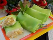 Bếp Eva - Cách làm bánh crepe sầu riêng lá dứa tuyệt ngon, ăn buổi nào cũng thích