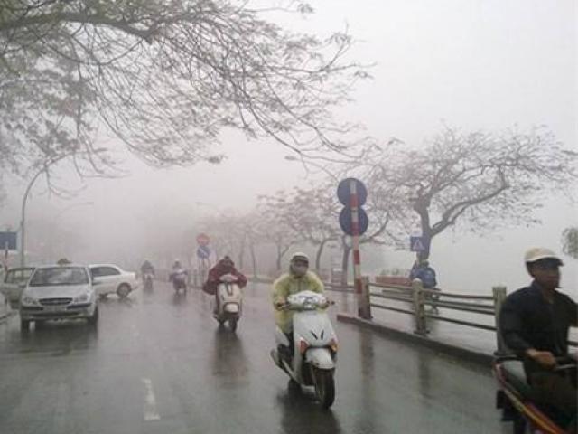 Miền Bắc lạnh nhất từ đầu mùa kèm theo mưa, Hà Nội nhiệt độ thấp nhất 19 độ C