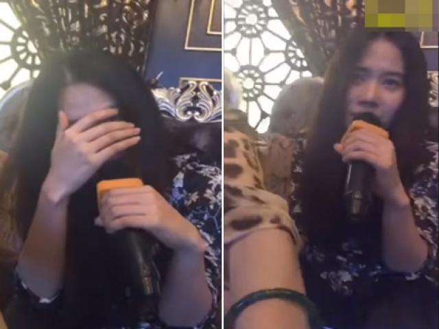Nam Em tiều tụy, che mặt trong phòng Karaoke khi máy quay hướng đến