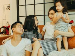 Lưu Hương Giang - Hồ Hoài Anh lần đầu khoe ảnh bên 2 con gái Mina, Misu