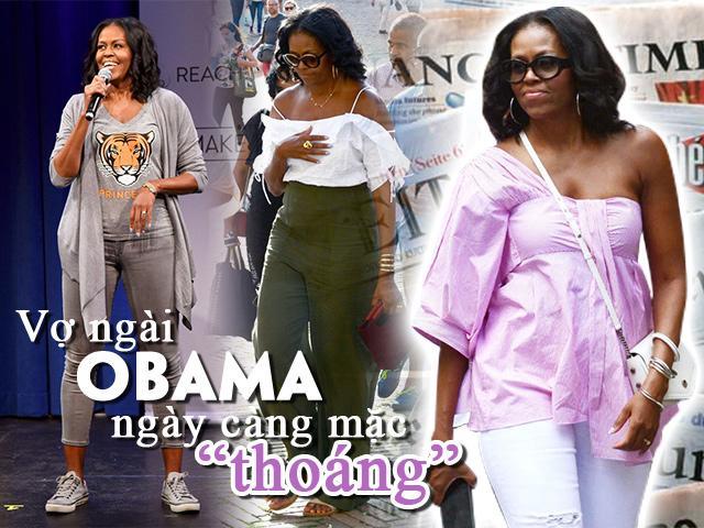 Từ ngày làm thường dân, phu nhân cựu Tổng thống Obama ngày càng mặc thoáng