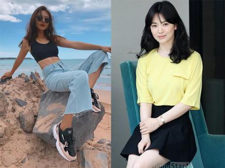 Trong phim mặc giống style nhưng ngoài đời Khả Ngân và Song Hye Kyo lại khác hoàn toàn