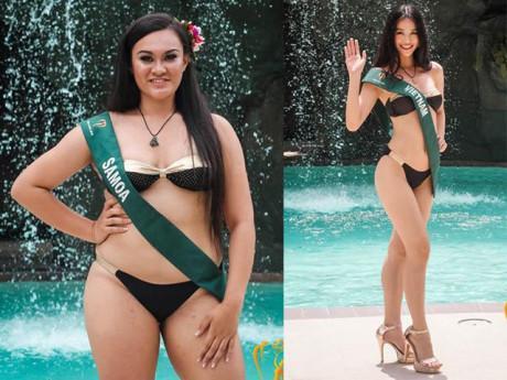 Thí sinh Hoa hậu Trái đất 2018 bị la ó vì lộ body phát phì trong phần thi bikini