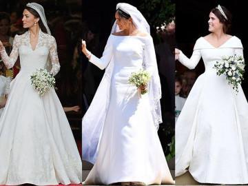 Những chiếc váy cưới hoàng tộc của các nàng công chúa, công nương nổi tiếng nhất thế giới