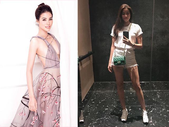 Hoa hậu Phạm Hương khoe eo thon, chân dài thẳng tắp trước tin đồn mang bầu