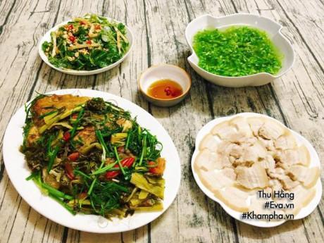 Bữa cơm 4 món ăn mùa nào cũng ngon, nồi cơm hết bay lúc nào chẳng biết