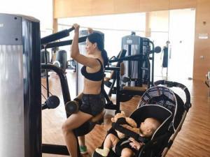 Sao Việt 24h: Lan Phương đưa cả con đi tập gym; Diệp Lâm Anh ngóng em bé chào đời
