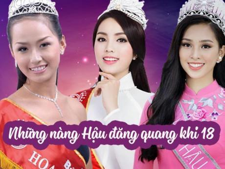 """Làm đẹp - 3 nàng Hậu đăng quang khi 18, Mai Phương Thúy, Kỳ Duyên """"lột xác"""" hoàn toàn, còn Tiểu Vy?"""
