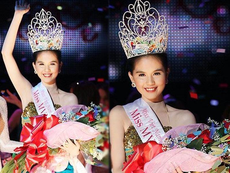 Ngọc Trinh đăng quang hoa hậu Việt Nam hoàn cầu 2011. Thời điểm đó, Ngọc Trinh cũng bị đồn mua giải.