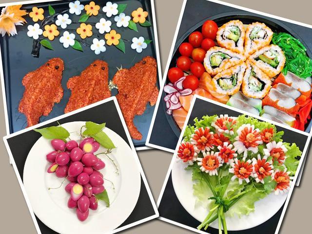 Mẹ đảm hot nhất MXH mách chị em trang trí món ăn từ sang chảnh đến bình dân ngày 20/10