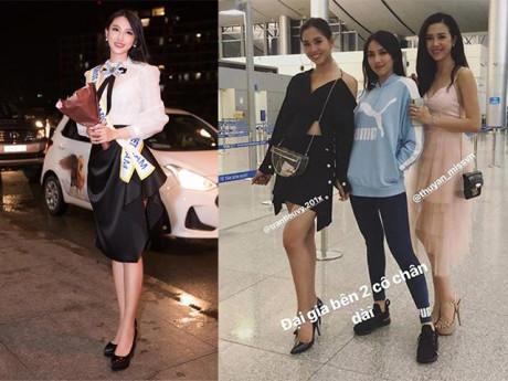Chất như Thuỳ Tiên, vừa ra sân bay đi thi quốc tế đã biến hình liên tục thế này rồi!