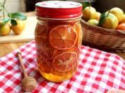Bếp Eva - Cách ngâm chanh đào mật ong trị ho cho cả nhà