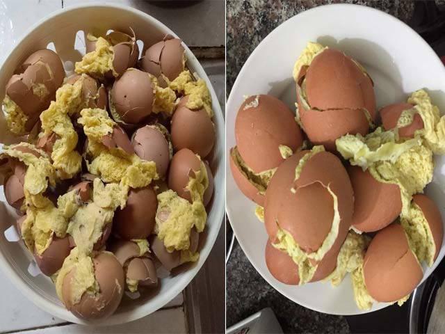 Học đòi làm theo trên mạng, cô gái khiến dân mạng tá hỏa với món trứng thoát xác