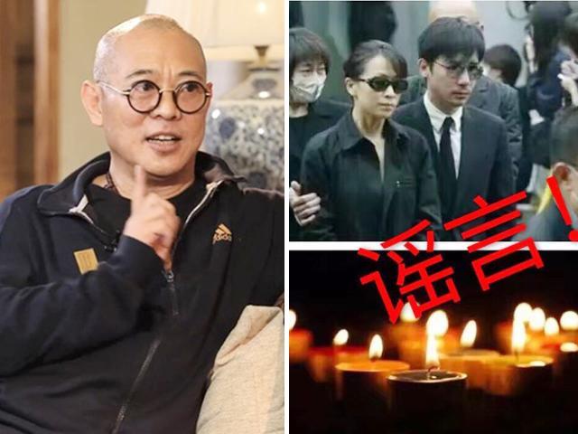Sự thật tin Lý Liên Kiệt qua đời: Vợ chồng Lưu Gia Linh buồn bã trong đám tang