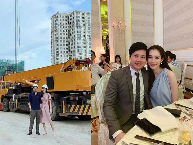 Sao Việt 24h: Đội mũ bảo hộ lao động ra công trường cùng chồng, Đặng Thu Thảo gây chú ý