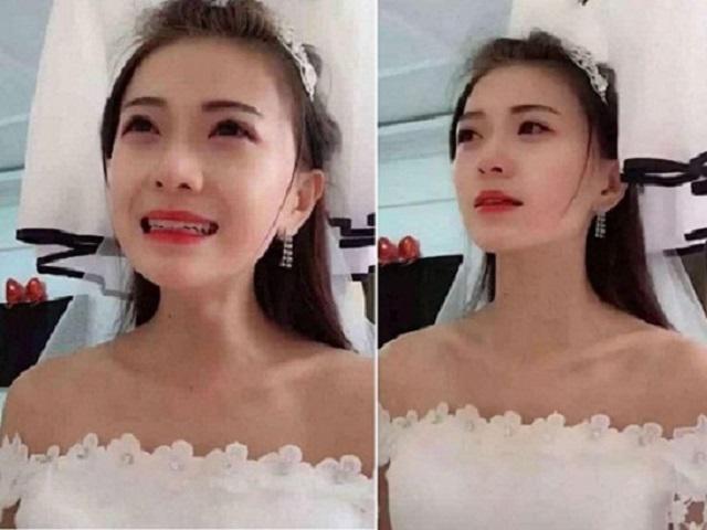 Cô dâu xinh đẹp khóc nấc khi bắt quả tang chú rể đang quấn lấy phù dâu