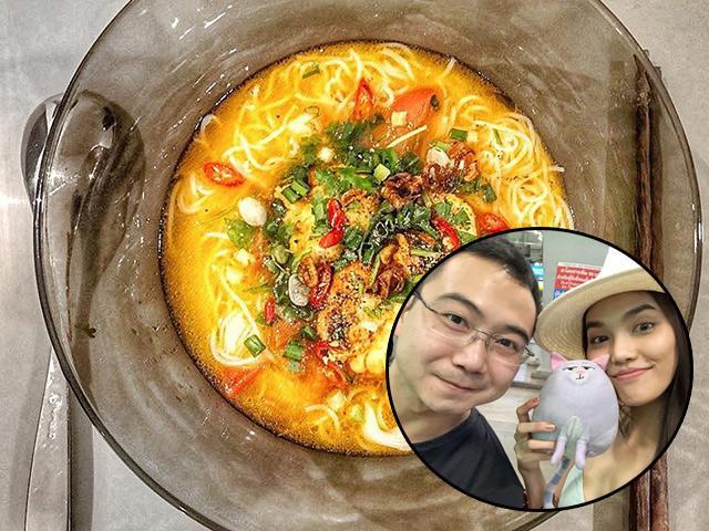 Sau đám cưới, lần đầu tiên chồng đại gia đăng ảnh đồ ăn Lan Khuê nấu, tự nhận may mắn