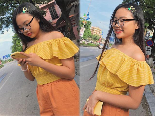 Phương Mỹ Chi mặc áo trễ vai gợi cảm, tạo dáng chất lừ khó nhận ra