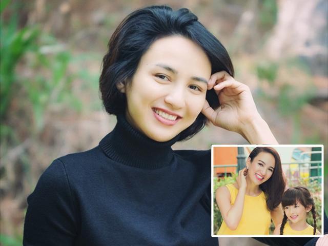 Hoa hậu Ngọc Diễm trẻ như gái 20 sau khi cắt phăng mái tóc, con gái phản ứng bất ngờ