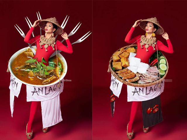 Niềm cảm hứng cho cộng đồng mạng những ngày qua: Bộ quốc phục bánh mì của H Hen Niê!