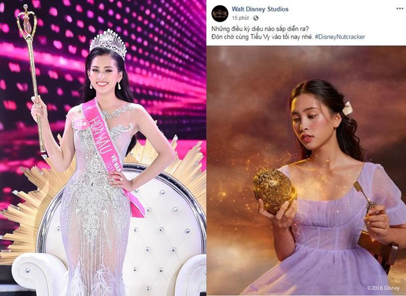 """Fanpage chính thức của Disney Studios tại Việt Nam vừa đăng tải ảnh TrầnTiểu Vy, gâybất ngờ cho các fan nhà """"Chuột"""" cũng như những người yêu mếnTân Hoa hậu Việt Nam 2018."""