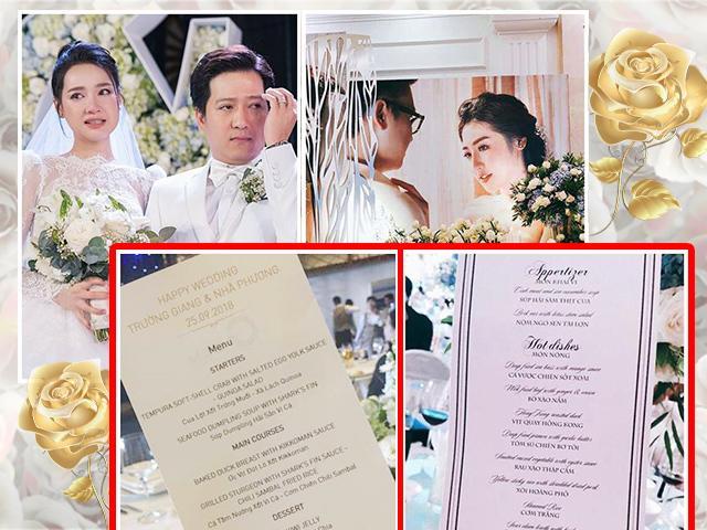 Thực đơn đám cưới sao Việt: Người chi mạnh tay, kẻ bị chê vì bình dân không ngờ