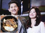 """Giải trí - Hiếm có ông chồng nào tâm lý như Song Joong Ki, vợ bị chê gầy ngay lập tức """"tẩm bổ"""""""