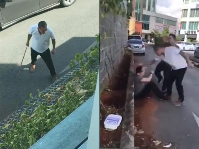 Nghe tin con gái bị chồng bạo hành, bố vợ đích thân vụt con rể tơi bời ngay giữa phố