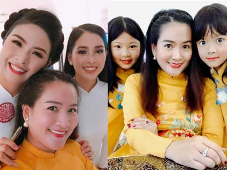 """Sao Việt 24h: Bà xã Bình Minh bị 2 con gái """"bắt lỗi"""" khi chụp ảnh với các hoa hậu"""