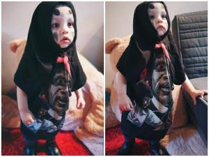 Ai cũng khen cậu bé hóa trang Halloween quá dễ thương, nhìn ảnh đời thường thật bất ngờ
