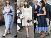 Thời trang bầu bí đều sang chảnh nhưng công nương Diana   ăn đứt   2 con dâu ở một điểm