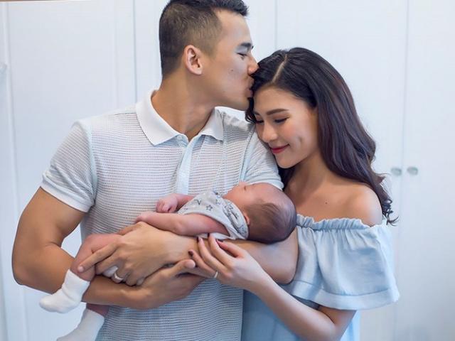 Chăm con hộ vợ, bố bỉm sữa Lương Thế Thành được Thuý Diễm cho 20 triệu tiền tiêu vặt