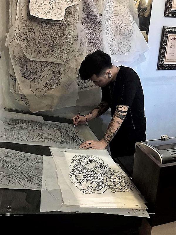 Lâm Việt - nghệ sỹ xăm hình đẳng cấp nổi tiếng Việt Nam
