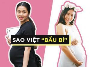 """Chuyện """"bầu bí"""" sao Việt: Phe xinh đẹp rạng ngời, phe xuống sắc chóng mặt"""