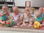 Nuôi 4 con trong ca sinh tư, cặp vợ chồng tiêu 470 triệu trong 1 tháng