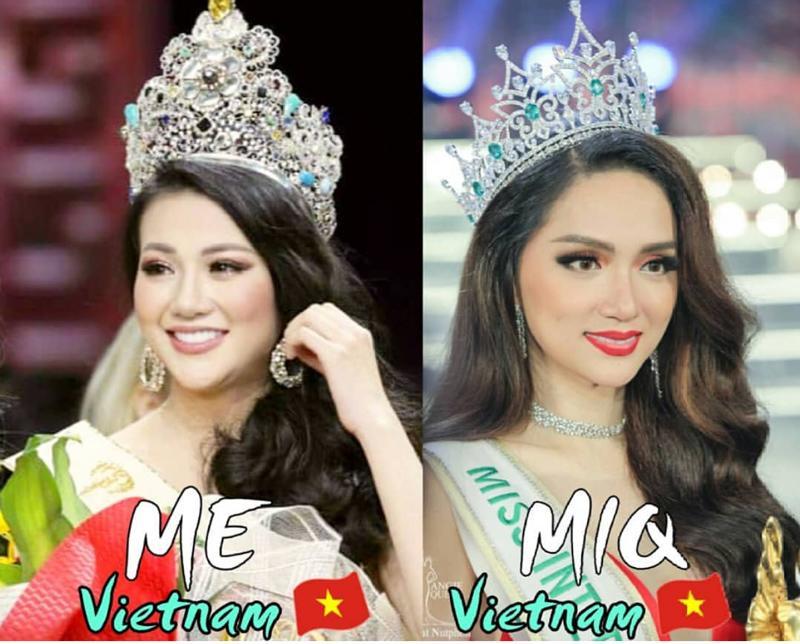 Hương Giang và Phương Khánh, hai mỹ nhân mang vinh quang về cho nền sắc đẹp Việt Nam, giúp đất nước được hô vang tại đấu trường nhan sắc quốc tế.