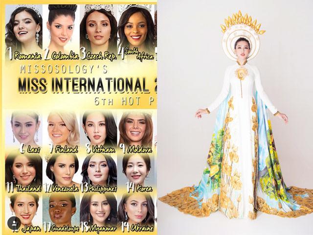 Được dự đoán vào Top 8, Thùy Tiên tung ngay quốc phục nổi bật tại Miss International 2018