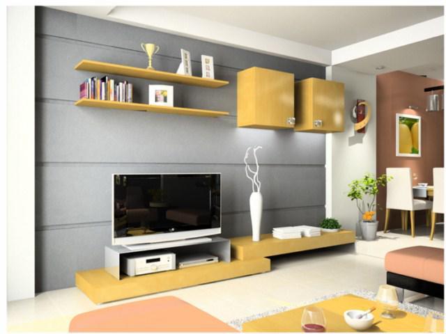 10 mẫu kệ gỗ trang trí phòng khách đẹp mê ly, đón đầu xu hướng thiết kế 2019