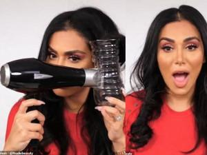 Một vỏ chai nhựa và một máy sấy rẻ tiền, sở hữu ngay mái tóc như salon- bạn có tin?
