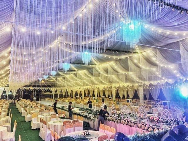 Đám cưới khủng ở Vĩnh Phúc xôn xao MXH, riêng tiền dựng rạp đã mất gần 1 tỷ đồng
