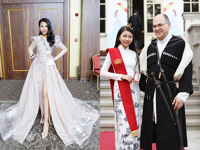13 tuổi uống sữa thay nước cao 1m75, Hoa hậu Hoàn vũ nhí Việt được Hoàng gia Georgia phong tước