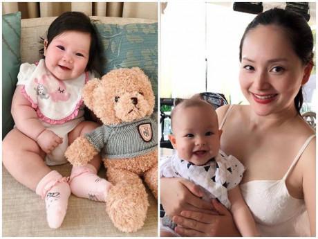Những mỹ nhân Việt bội thu con gái đầu lòng năm 2018, bé nào cũng tròn trĩnh đáng yêu