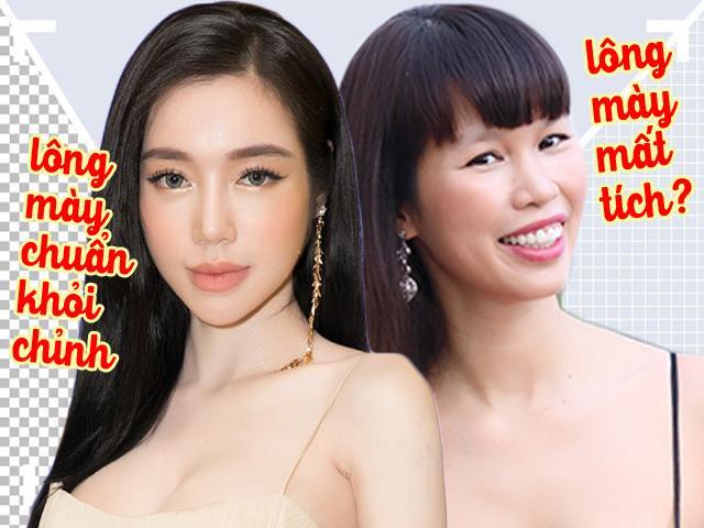 Elly Trần trở lại với lông mày đích thực, trong khi đó lông mày Hà Anh bỏ chủ đi chơi