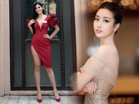 Tiểu Vy lần đầu diện váy xẻ đùi ở Miss World, Đỗ Mỹ Linh cũng phải kêu trời!